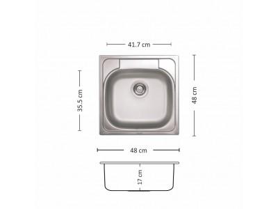 Мивка Compact 480 SI